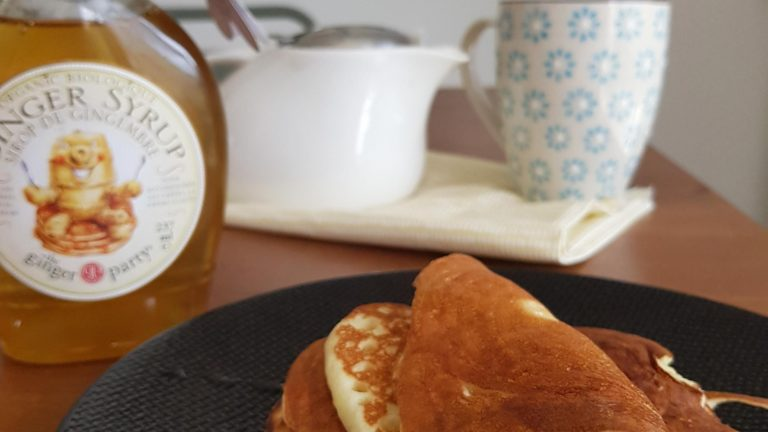 Pancakes et sirop de gingembre