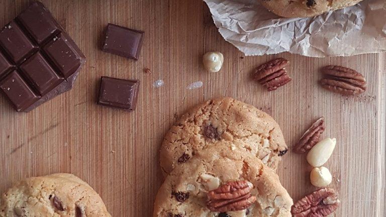 Cookies pécan-chocolat-goji