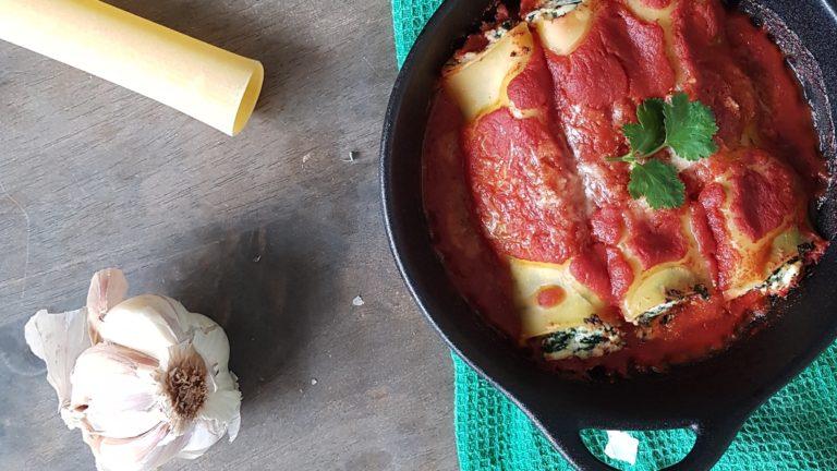Cannelloni farcis ricotta-épinard