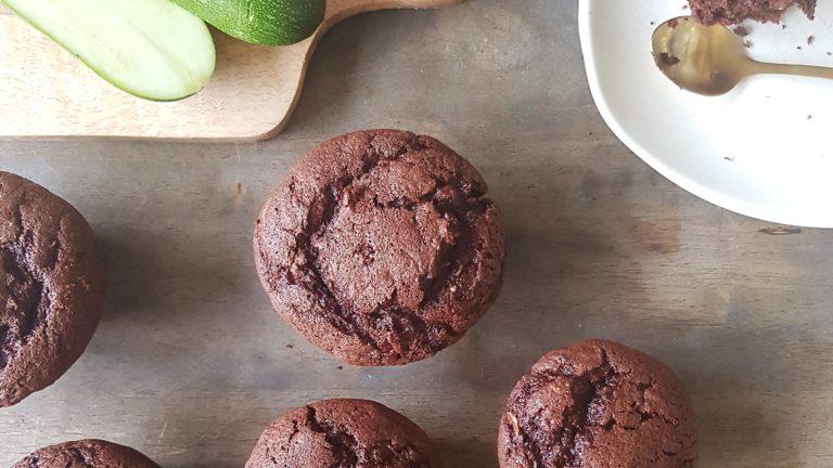 Muffin au chocolat à la courgette et sans beurre
