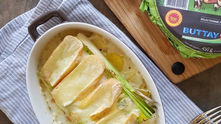 Gratin de poireau et pomme de terre au Reblochon