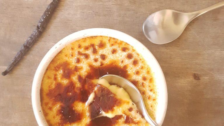 Crème brûlée à la vanille de Madagscar
