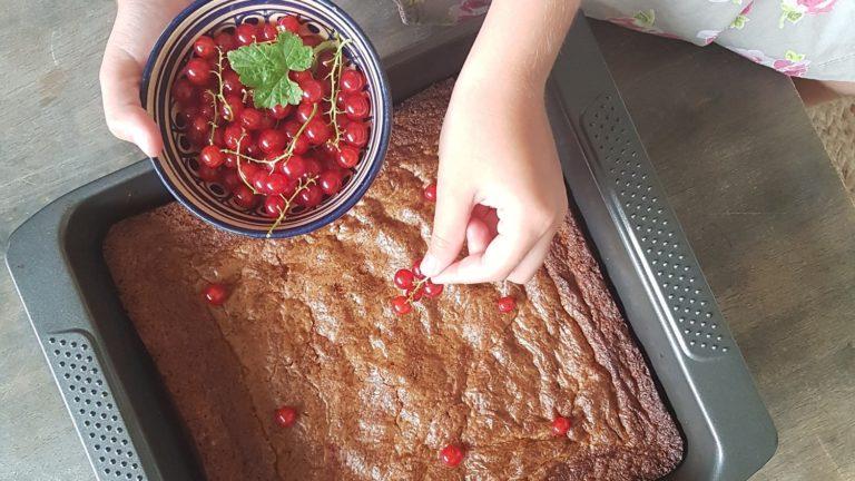 Brownie au pépites de chocolat blanc et noix de pécan