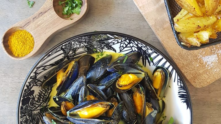 Moules de bouchot au curry