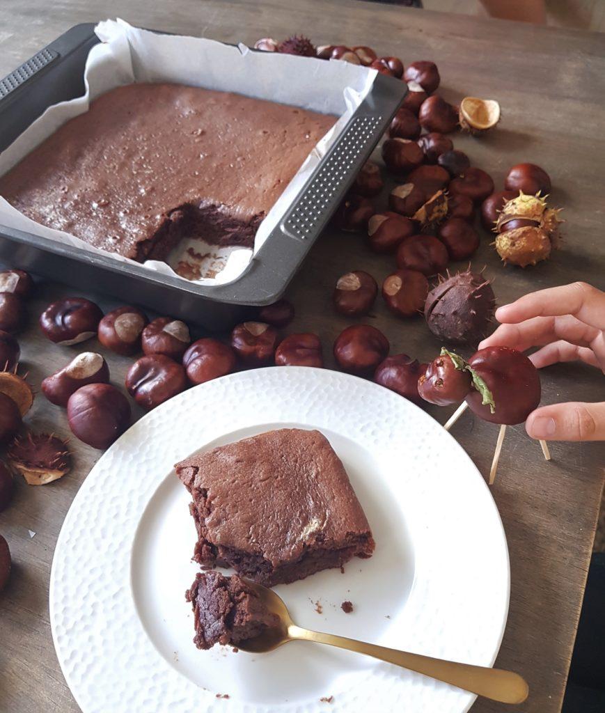 Fondant marron-chocolat