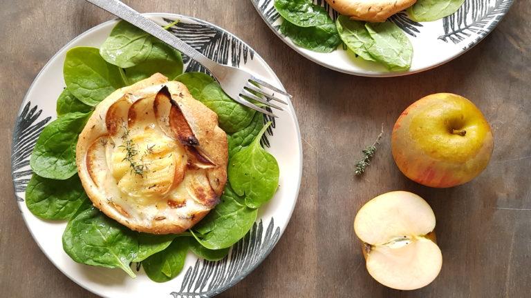 Croustade aux pommes et Rocamadour