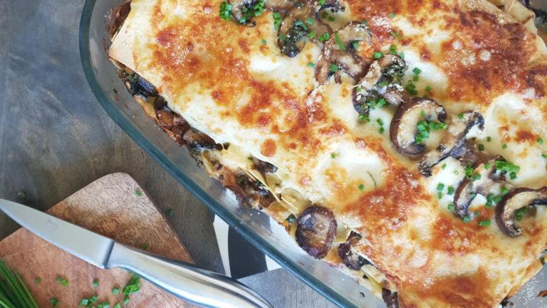 Lasagnes aux champignons et gorgonzola